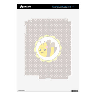 Yellow and Grey Baby Bee Decals For iPad 3