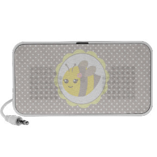 Yellow and Grey Baby Bee Mp3 Speakers