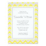Yellow and Grey Chevron Bridal Shower Invite
