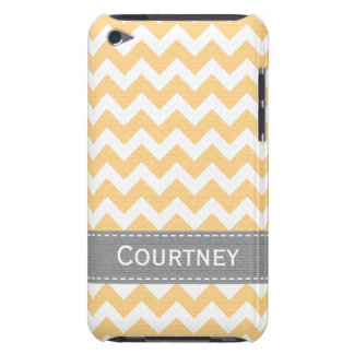 Yellow and Grey Chevron iPod Touch 4g Case Cover