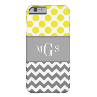 Yellow and Grey Chevron Polka Dots iPhone 6 case