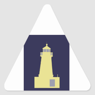 Yellow and Grey Lighthouse. Triangle Sticker