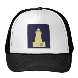 Yellow and Grey Lighthouse. Trucker Hat
