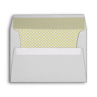 Yellow and Grey Pattern Inside Liner Envelope