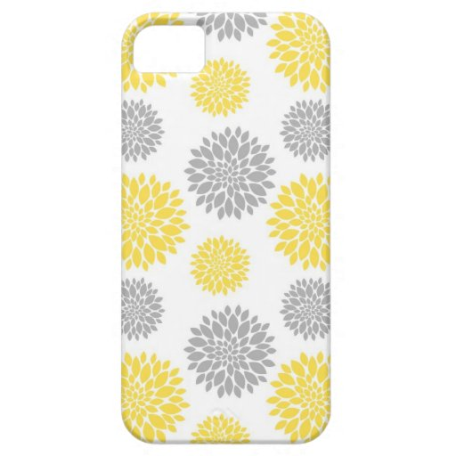 Yellow And Gray Floral Pattern Yellow and Grey Peony ...