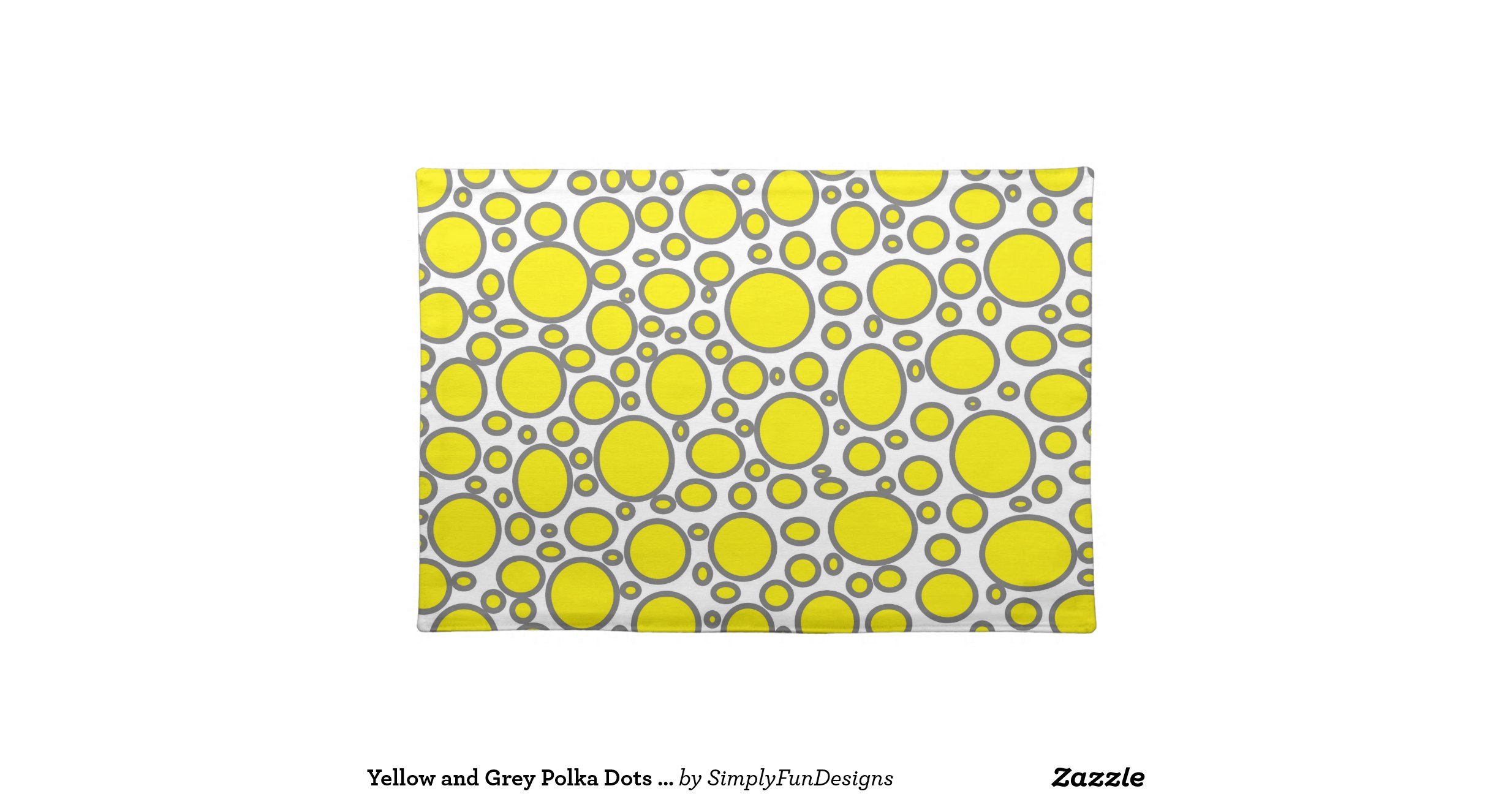yellow and grey polka dots placemat-rdbd150d2c2474f3ba00f00947a32baeb    Yellow And Gray Polka Dots