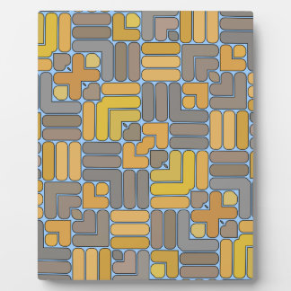 Yellow and Grey Rods Plaque