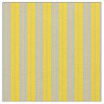 [ Thumbnail: Yellow and Grey Stripes Pattern Fabric ]