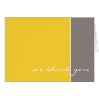 Yellow and Grey Wedding Thank you card
