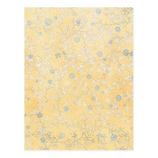 yellow and Grey Wildflowers Postcard