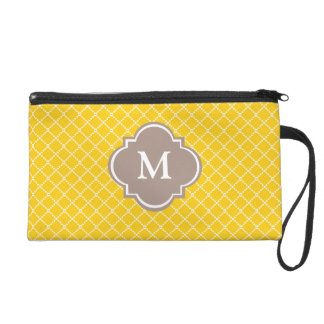 Yellow and Grey Wristlet Gift for Her