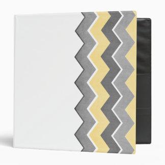 Yellow and Grey Zig Zag Pattern Vinyl Binders
