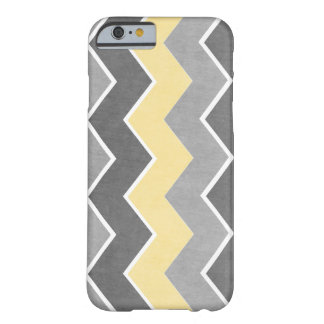Yellow and Grey Zig Zag Pattern Barely There iPhone 6 Case