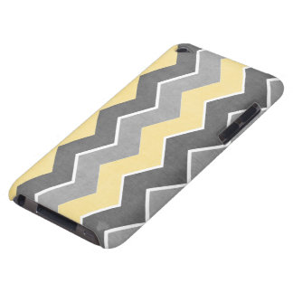 Yellow and Grey Zig Zag Pattern iPod Case-Mate Case