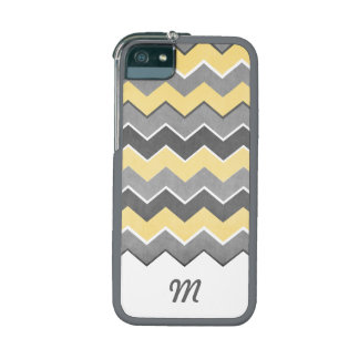 Yellow and Grey Zig Zag Pattern Case For iPhone 5