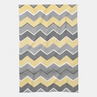 yellow and grey kitchen towels zazzle. Black Bedroom Furniture Sets. Home Design Ideas
