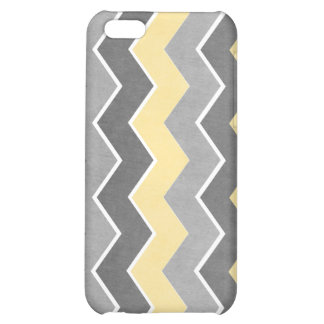 Yellow and Grey Zig Zag Pattern iPhone 5C Cases