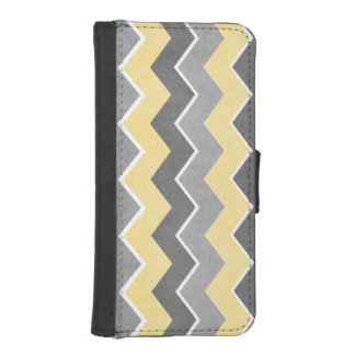 Yellow and Grey Zig Zag Pattern iPhone 5 Wallet