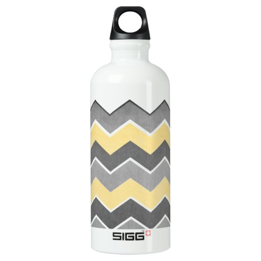 Yellow and Grey Zig Zag Pattern SIGG Traveler 0.6L Water Bottle