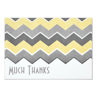 Yellow and Grey Zig Zag Pattern Thank You Card
