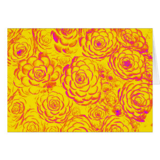 Yellow and Hot Pink Succulent Note Cards