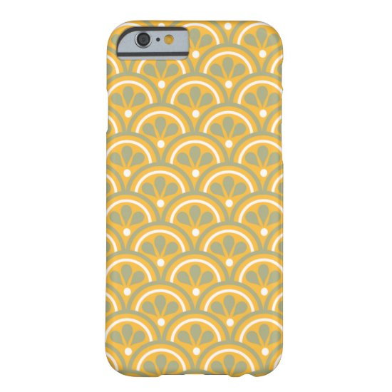Yellow And Khaki Floral Art Deco Pattern Barely There iPhone 6 Case