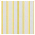 [ Thumbnail: Yellow and Lavender Colored Stripes Pattern Fabric ]