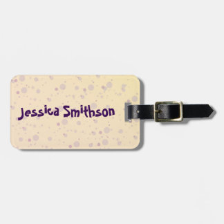 Yellow and Lavender Sprinkle Stars Luggage Tag