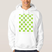 Yellow and Light Blue Soccer Ball Pattern Hoodie