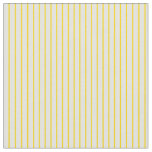 [ Thumbnail: Yellow and Light Cyan Colored Lined Pattern Fabric ]