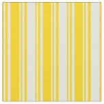 [ Thumbnail: Yellow and Light Cyan Lined/Striped Pattern Fabric ]