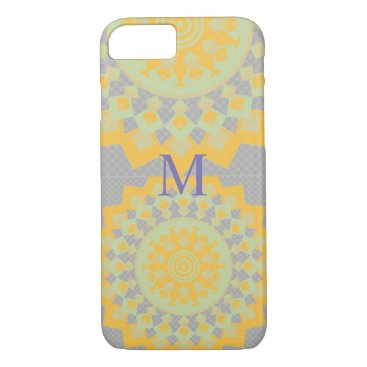 Aztec Themed Yellow And Lilac Aztec  Abstract Art  i Phone case