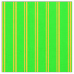 [ Thumbnail: Yellow and Lime Colored Lines Pattern Fabric ]