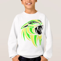 Yellow and Lt Green Tiger Head Sweatshirt