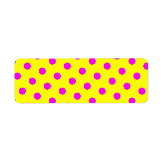 Yellow and Magenta Polka Dots Label
