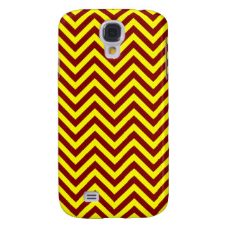 Yellow and Maroon Chevron or Zigzags Stripes Samsung S4 Case