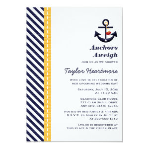 Yellow and Navy Nautical Bridal Shower Invitations 5