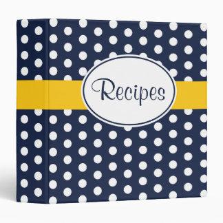 Yellow and Navy Retro Recipe Binder