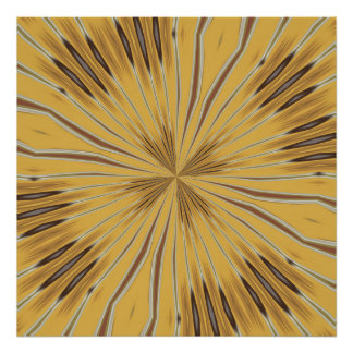 Yellow and Ochre Flower Pattern Abstract 2 Poster