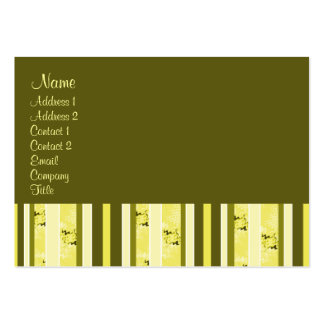 Yellow and Olive Green Stripes Business Card