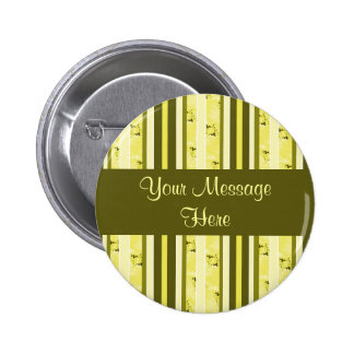 yellow and olive stripes pinback buttons