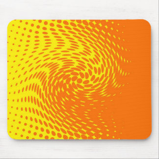 Yellow and Orange Abstract Design Mouse Pad
