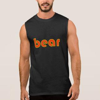 """Yellow and Orange """"bear"""" Sleeveless T Sleeveless Shirt"""