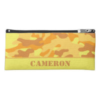 Yellow and Orange Camouflage (Camo) | Personalized Pencil Case