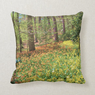 Yellow and Orange Carpet of Tulips Throw Pillow