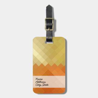 Yellow and Orange Chevron Seamless Pattern Bag Tag
