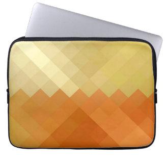 Yellow and Orange Chevron Seamless Pattern Laptop Computer Sleeves