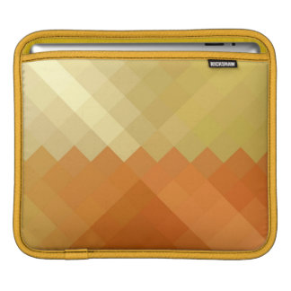 Yellow and Orange Chevron Seamless Pattern Sleeves For iPads