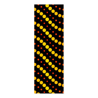 Yellow and orange circle waves pattern business card template
