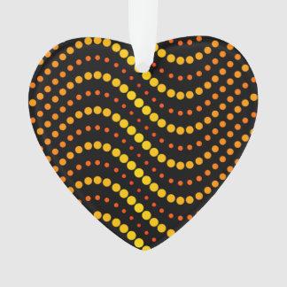 Yellow and orange circle waves pattern ornament